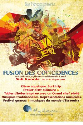 Fusion des Concidences : musiques, art culinaire et surf