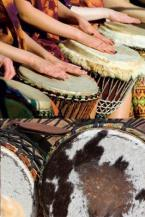 Atelier de percussions et guembri